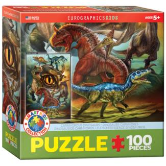 EuroGraphics Puzzle Dinosaures carnivores (100 pièces)