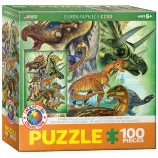 EuroGraphics Puzzle Dinosaures herbivores (100 pièces)