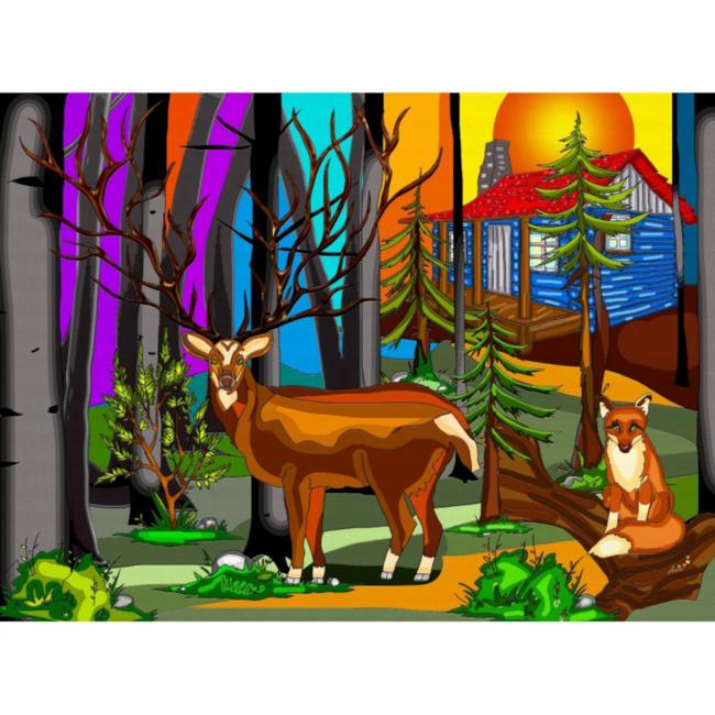 JaCaRou Puzzles My Deer Friend (1000 pieces)