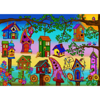 JaCaRou Puzzles Bird Houses (1000 pieces)