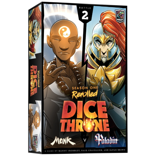 Roxley Dice Throne - Season One Rerolled : Monk VS Paladin [English]