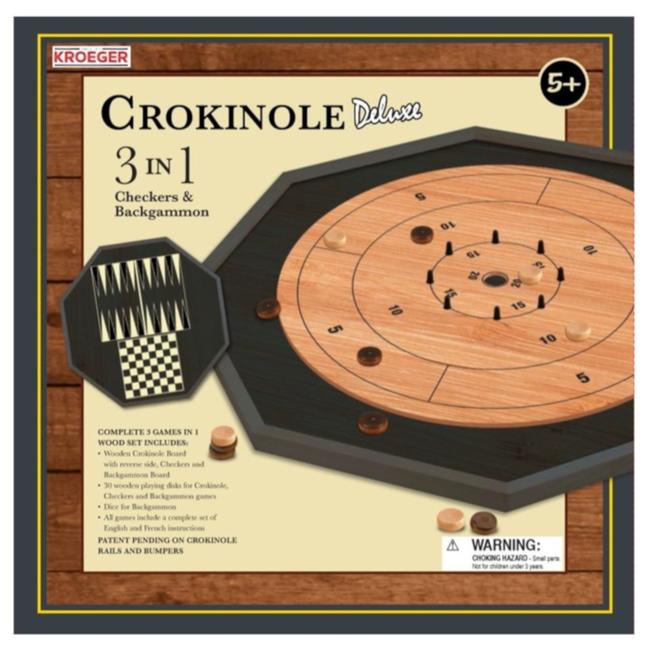 Kroeger Brand Crokinole Deluxe (3 en 1) [anglais]