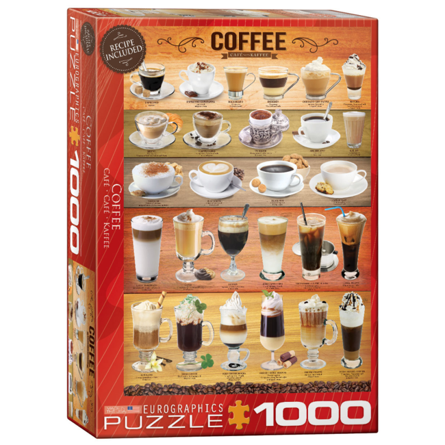 EuroGraphics Puzzle Coffee (1000 pieces)