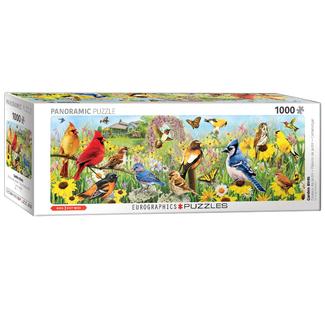 EuroGraphics Puzzle Oiseaux de jardin - Panoramique (1000 pièce)