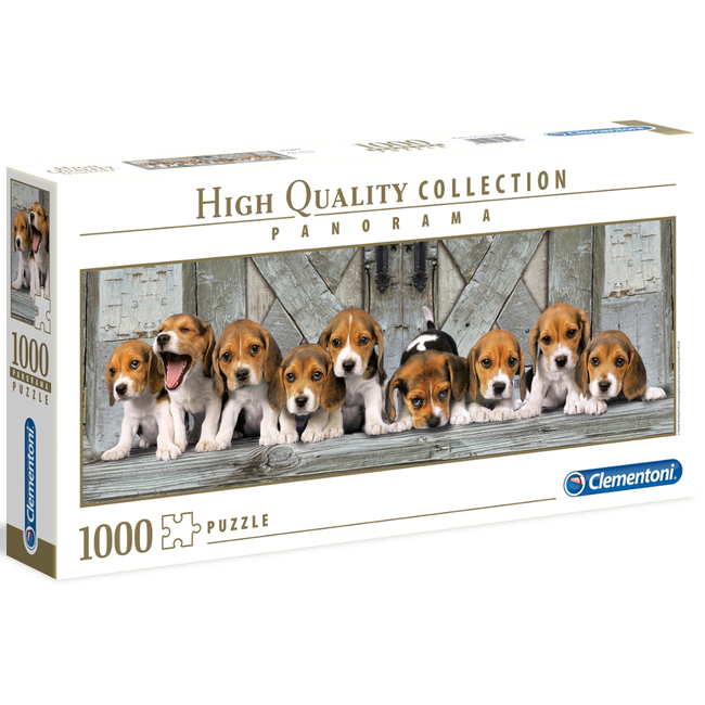 Clementoni Beagles - panoramique (1000 pièces)