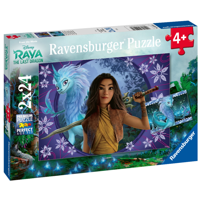 Ravensburger Disney - Raya - Sisu, the Last Dragon (2x24 pieces)