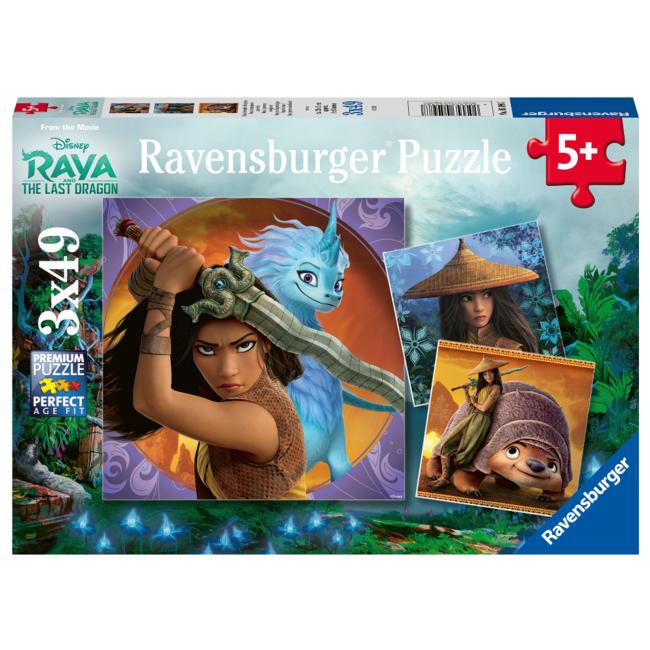 Ravensburger Disney - Raya, la courageuse guerrière (3x49 pièces)