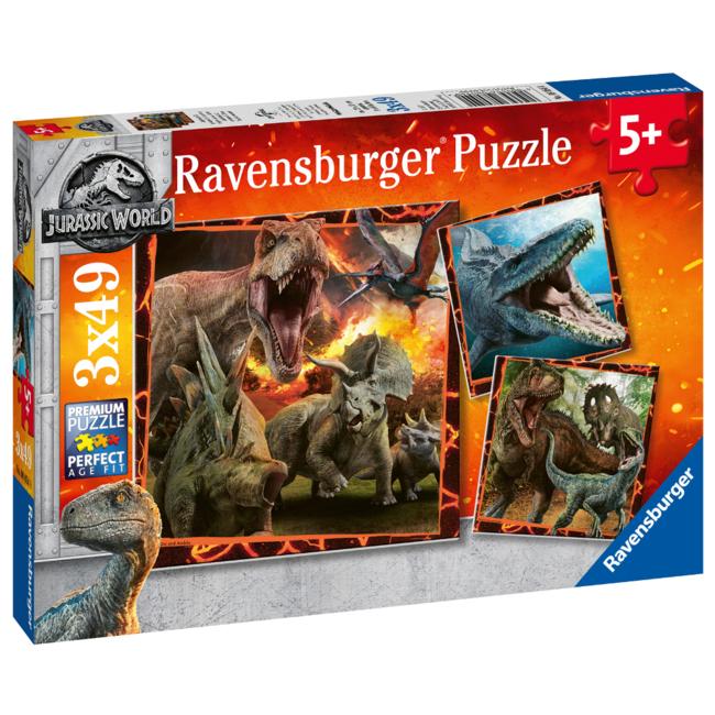 Ravensburger Jurassic World - Instinct de chasseur (3x49 pièces)