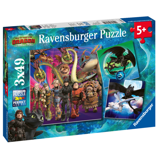 Ravensburger How to Train Your Dragon (3x49 pieces)