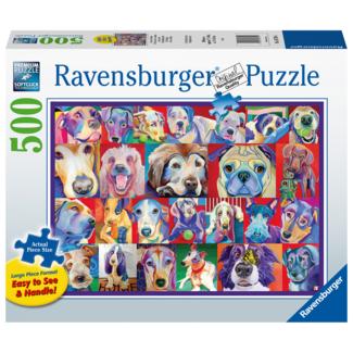 Ravensburger Chiens hauts en couleurs (500 pièces)