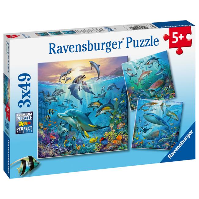 Ravensburger Le monde animal de l'océan (3x49 pièces)