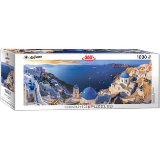 EuroGraphics Puzzle Santorini - Greece - panoramique (1000 pièces)