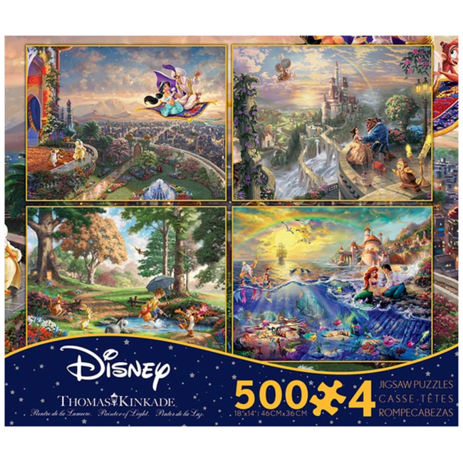 CEACO Disney - Thomas Kinkade - Multipack 1 (4 x 500 pieces)