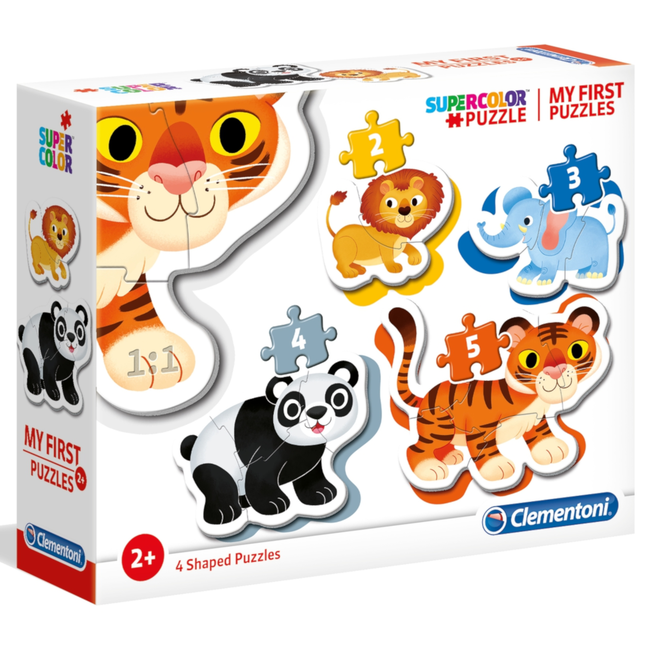 Clementoni My First Puzzles - Wild animals (4 in 1)