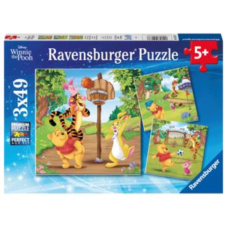 Ravensburger Disney - Winnie l'ourson - Journée du sport (3x 49 pièces)