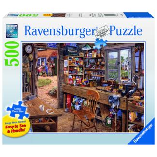 Ravensburger Dad's Shed (500 pieces)