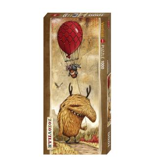 Heye Zozoville - Red Balloon - panoramic (1000 pieces)