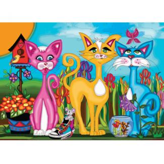 JaCaRou Puzzles Rosy, Sunny & Sky (1000 pieces)
