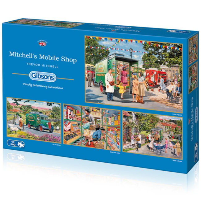 Gibsons Mitchell's Mobile Shop (4 x 500 pieces)
