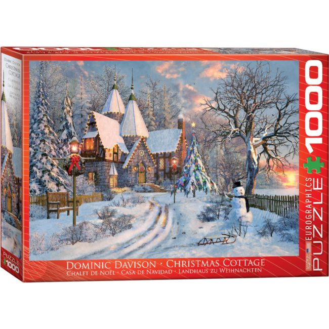 EuroGraphics Puzzle Christmas Cottage (1000 pieces)