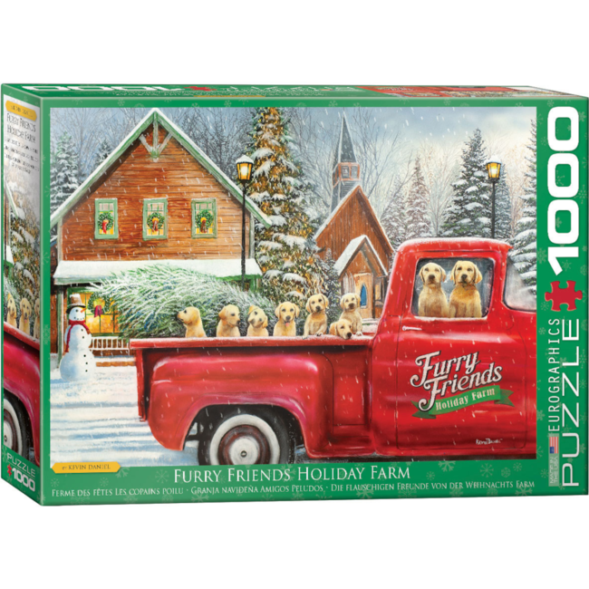 EuroGraphics Puzzle Furry Friends Holiday Farm (1000 pieces)