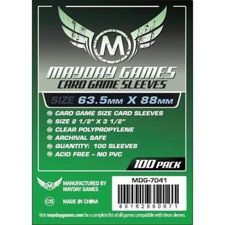 Mayday Games Card sleeves (63.5mm x 88mm) - 100 pack [MDG-7041]