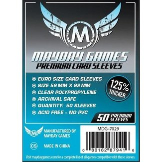 Mayday Games Card sleeves (59mm x 92mm) - 50 pack [MDG-7029]