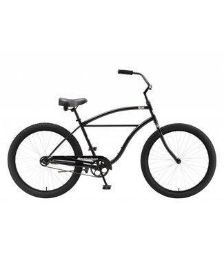"SUN BICYCLES CRUISER REVOLUTION 26"" JET BLACK"