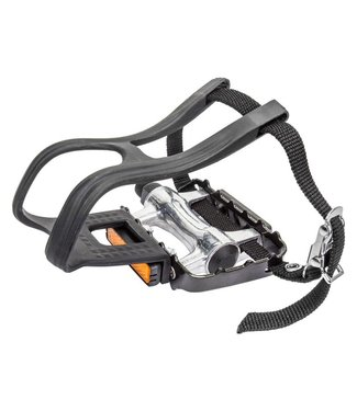 PEDALS 9/16 WITH STRAPS MTB