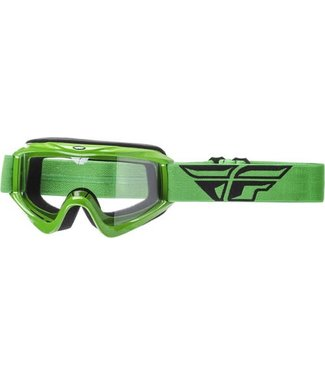 FLY RACING FOCUS ADULT GOGGLE GREEN CLEAR