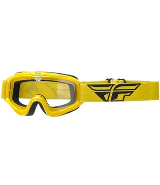 FLY RACING FOCUS ADULT GOGGLE  YELLOW CLEAR LENS