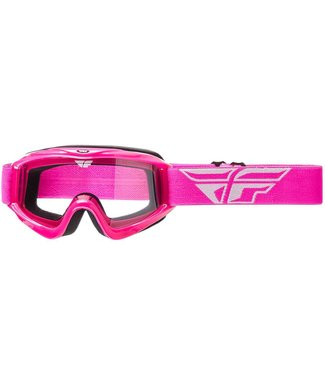 FLY RACING FOCUS ADULT GOGGLE PINK CLEAR LENS
