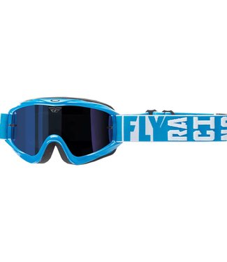 FLY RACING ZONE TURRET GOGGLE BLUE W/BLUE MIRROR LENS
