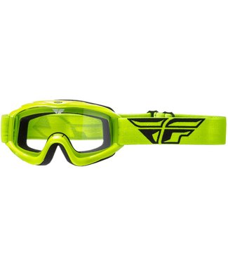 FLY RACING FOCUS ADULT GOGGLE GREEN W/CLEAR LENS