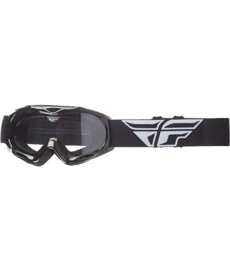FLY RACING FOCUS YOUTH GOGGLE BLACK W/ CLEAR LENS