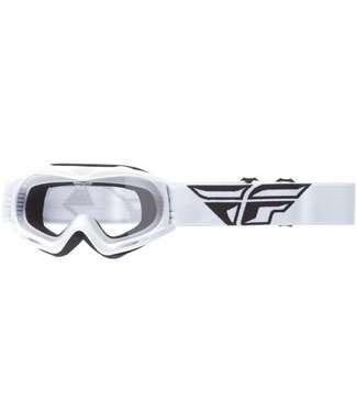 FLY RACING FOCUS YOUTH GOGGLE WHITE W/CLEAR LENS