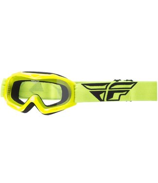 FLY RACING FOCUS YOUTH GOGGLE HI-VIS W/CLEAR LENS