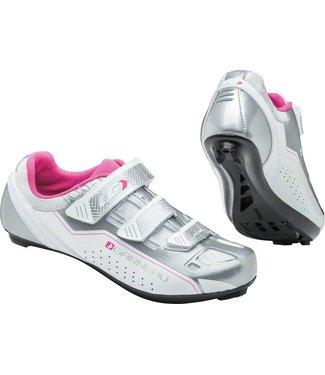 Louis Garneau Jade Women's Cycling Shoe: White/Silver/Pink 42