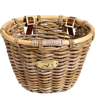 Nantucket Bike Basket Nantucket Tuckernuck Front Basket, Oval Shape: Natural