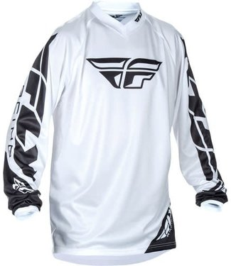 FLY RACING UNIVERSAL JERSEY WHITE MEDIUM (Clearance)