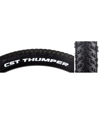 CST Thumper 26 x 2.1 Single Compound, 27tpi, Steel Bead, Black