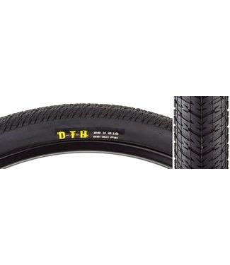 "MAXXIS DTH Tire: 26 x 2.15"", Folding, 60tpi, Single Compound, Black"