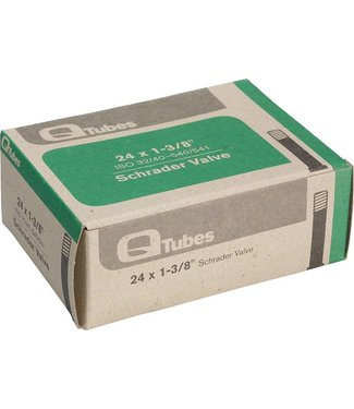 """Q-Tubes 24"""" x 1-3/8"""" Schrader Valve Tube 124g"""