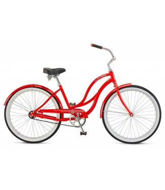 SCHWINN ALUM 1 SPD RED WOMEN