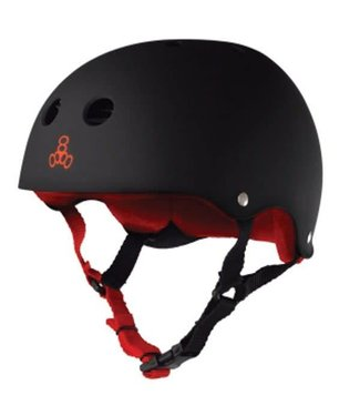 Triple Eight SWEATSAVER HELMET MATTE BLACK/RED