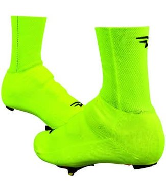 "DeFeet Slipstream Strada Shoe Cover: 5"" Hi-Vis Yellow SM/MD"