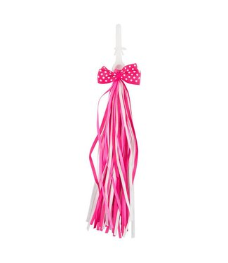 STREAMERS SATIN BOW PINK