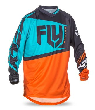 FLY RACING F-16 JERSEY ORANGE/TEAL SMALL