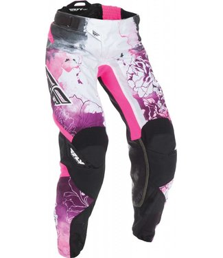 FLY RACING KINETIC WOMEN'S PANTS PINK/PURPLE SZ 3/4