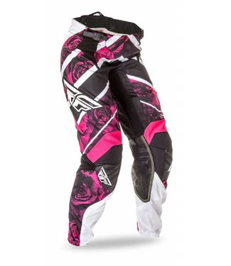 FLY RACING KINETIC WOMENS PANTS PINK/WHITE SZ 3/4